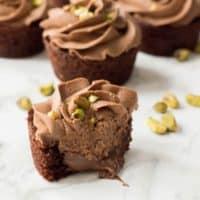 Nutella Cupcakes with Pistachio Chocolate Buttercream