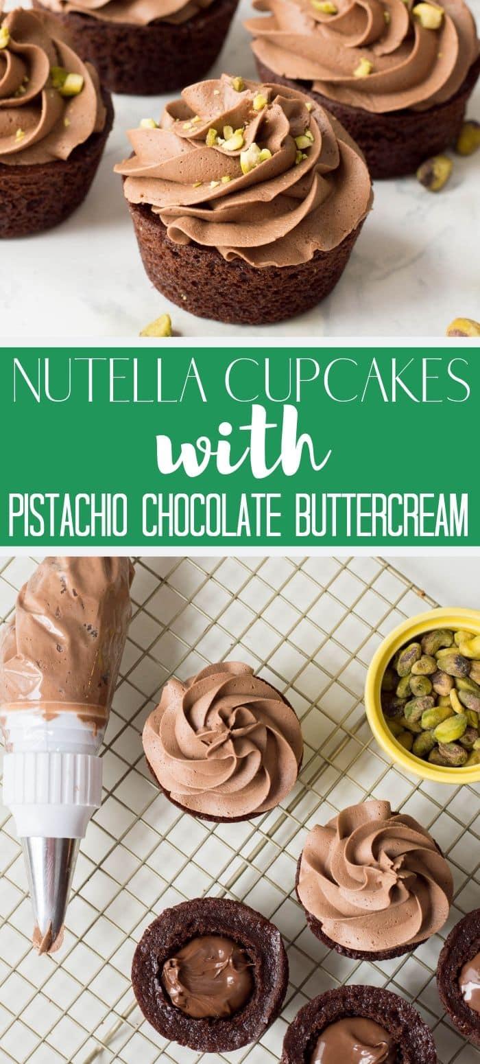 nutella cupcakes pin image