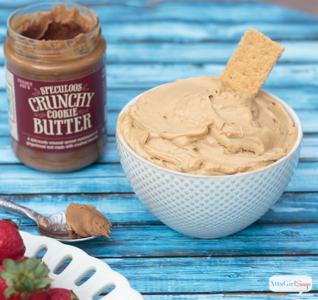 cookie butter dip in a bowl