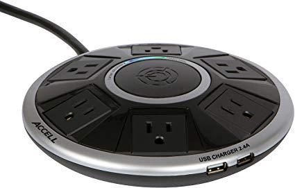 Accell Powramid Air Surge Protector - 2 USB Charging Ports