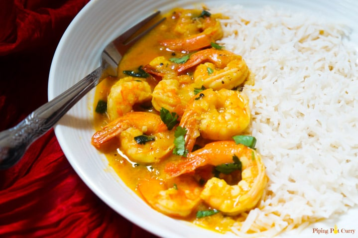 Coconut Shrimp Curry - Instant Pot / Pressure Cooker