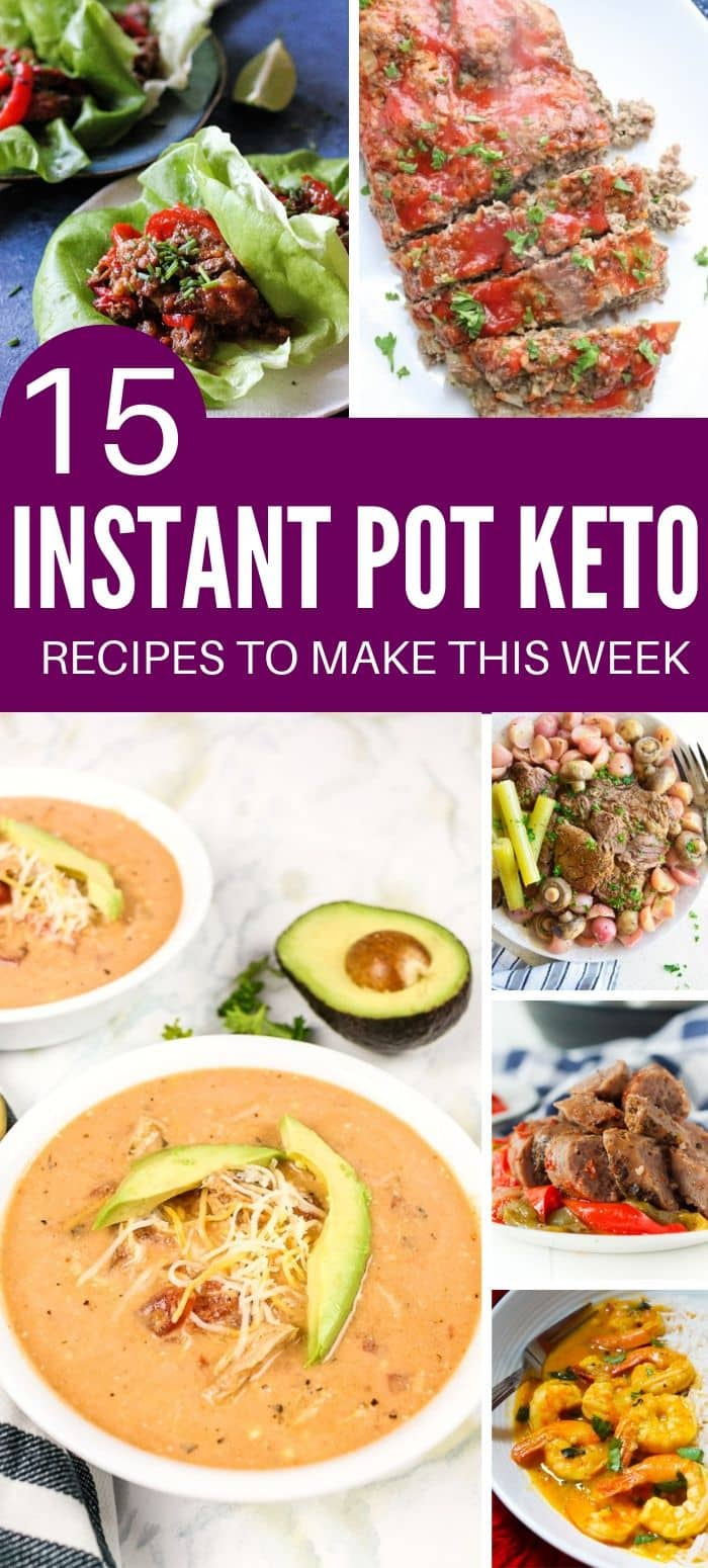 Easy Keto Instant Pot Recipes pin image