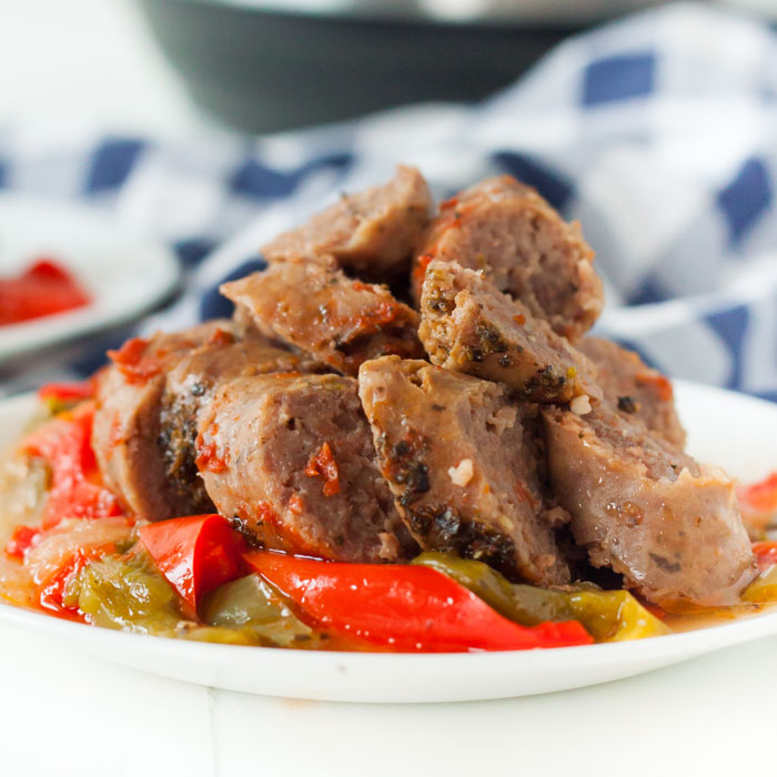 Instant Pot Sausage and Peppers Recipe (Keto & Low Card) - Pressure Cooker Recipe