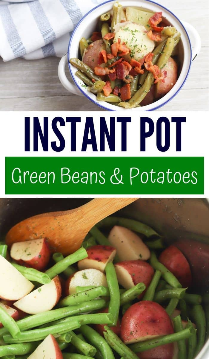 pin image for green beans and potatoes