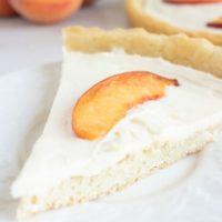 Peach Tart With Sugar Cookie Crust