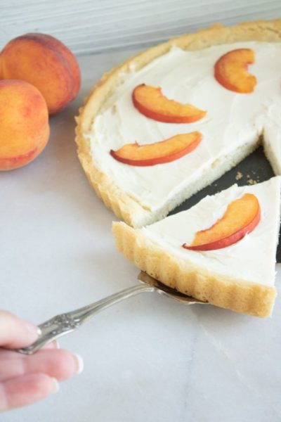 Peach Tart With Sugar Cookie Crust