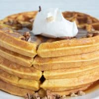 The Best Pumpkin Waffles