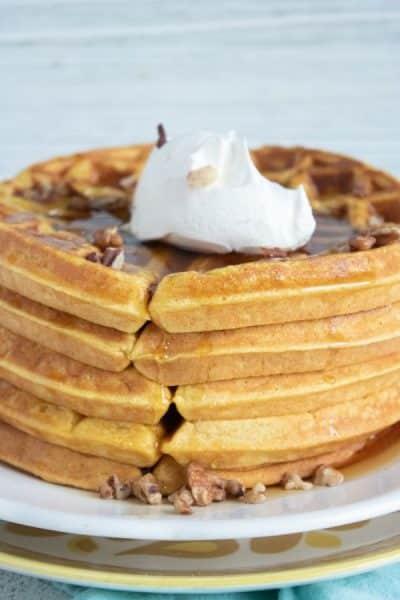 The Best Pumpkin Waffles