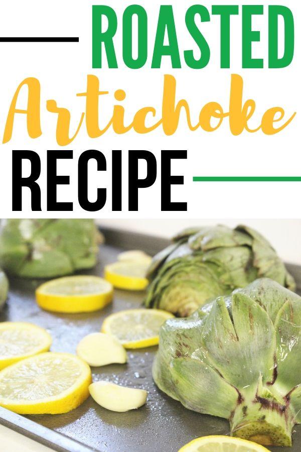 roasted artichokes on sheet pan