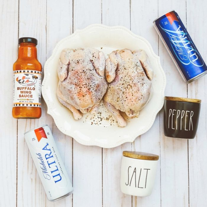 Incredibly Juicy Buffalo Beer Can Cornish Hen Recipe