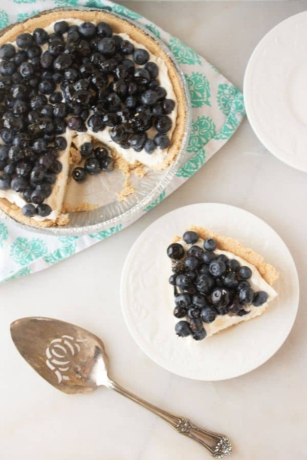 no bake blueberry cream pie