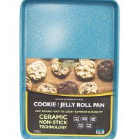 15 x 10 x 1-Inch Ceramic Non-Stick Coating Cookie/Jelly Roll Pan (Blue Granite)
