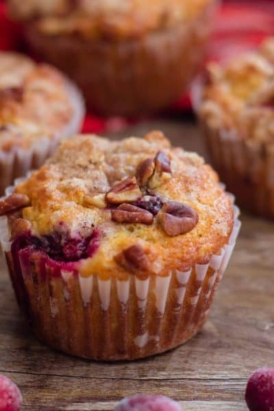 Cranberry Muffins with Walnuts and Oats