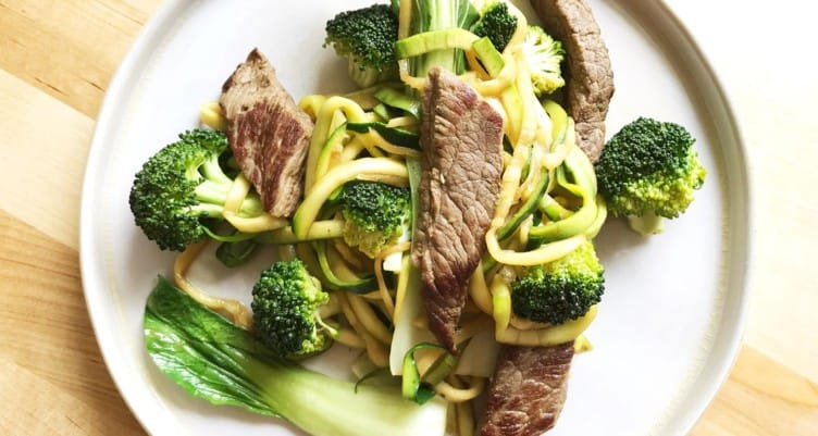 low carb beef and noodles