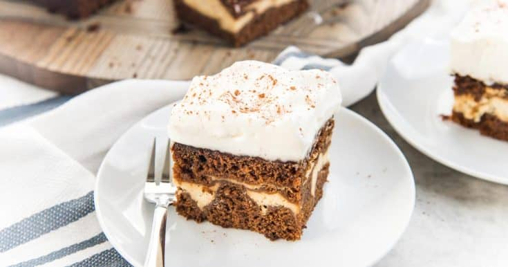 Cheesecake Stuffed Gingerbread Cake