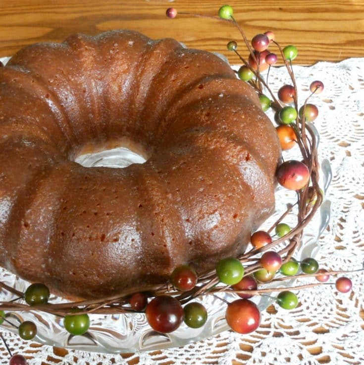 Holiday Eggnog Cake {with Rum-Bourbon Glaze}