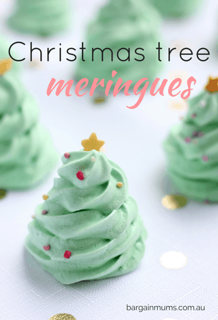 Christmas Tree Meringues - Bargain Mums