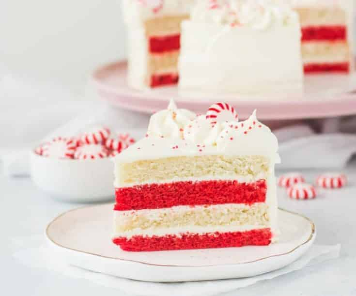 Peppermint Cake with White Chocolate Buttercream