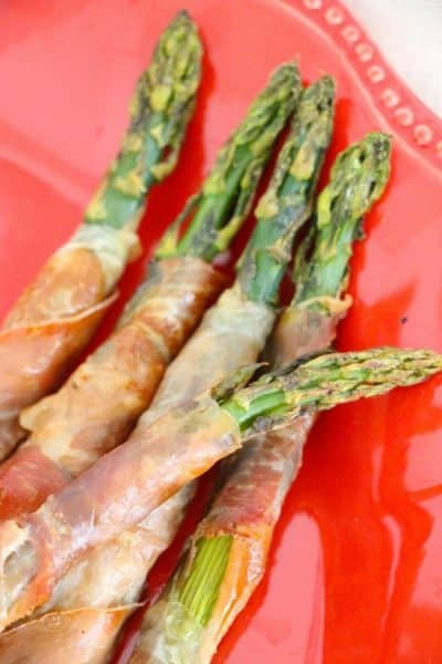 Baked Prosciutto Wrapped Asparagus (Keto Friendly)