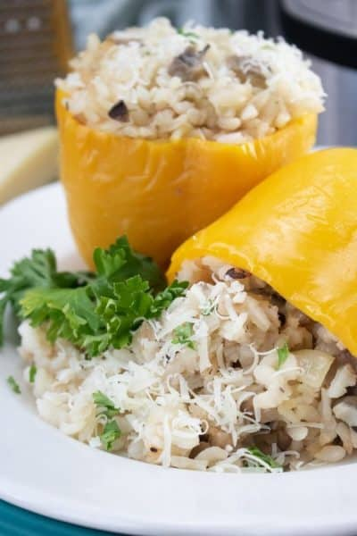 Instant Pot Stuffed Peppers Parmesan Rissotto