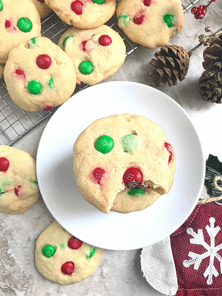 Easy M & M Cookies - My Diaspora Kitchen