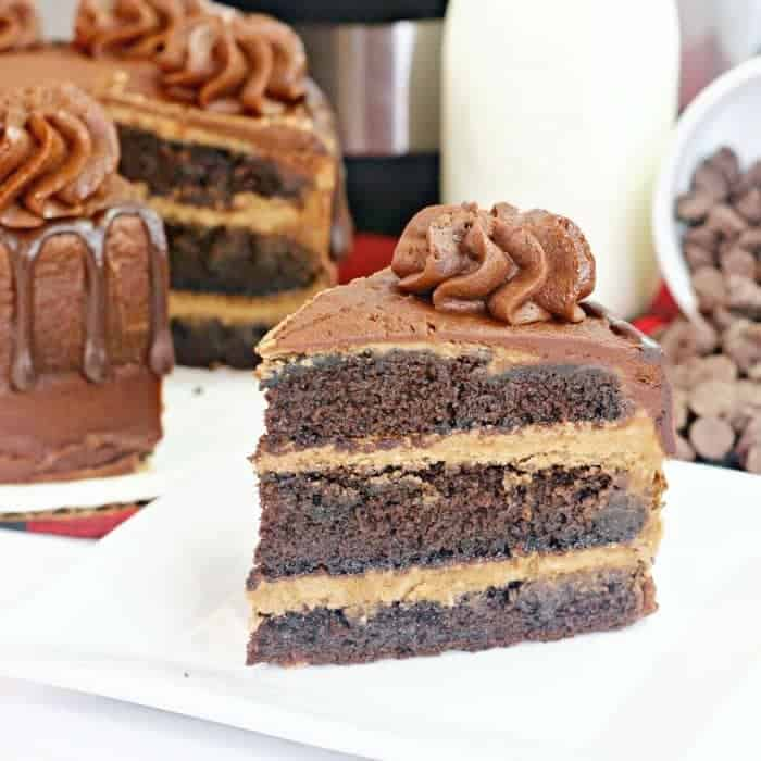 Easy Layered Instant Pot Chocolate Cake