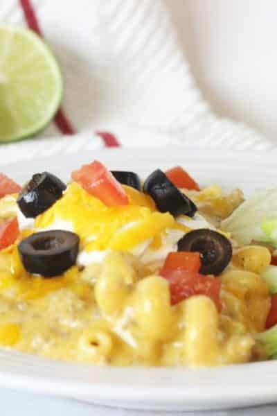 Cheesy Instant Pot Enchilada Pasta (with Video)