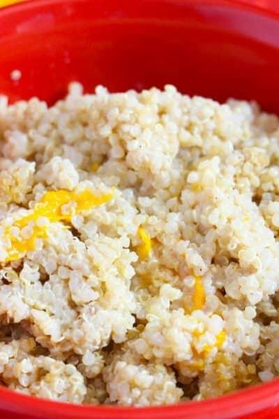 Instant Pot Peaches And Cream Breakfast Quinoa