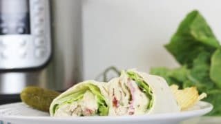 Instant Pot Chicken Caesar Wraps (Freezer Meal)