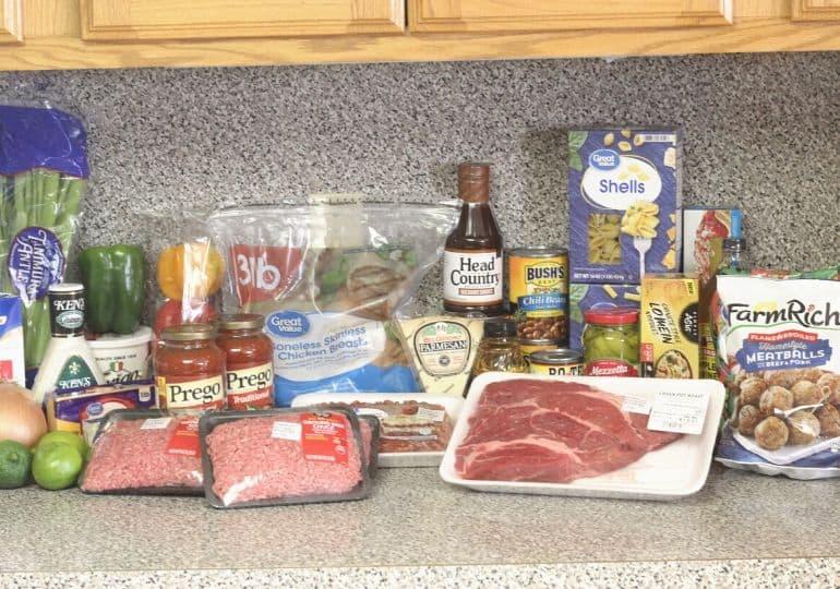 freezer meal prep ingredients