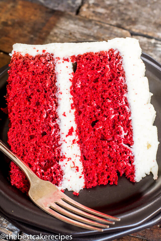 Red Velvet Cake Recipe {Layered Cake with Cooked Flour Frosting}
