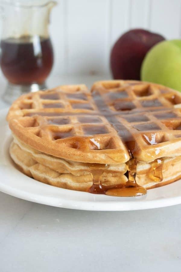 bacon apple waffles