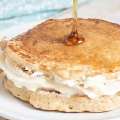 Applesauce Pancakes With Cheesecake Filling Recipe