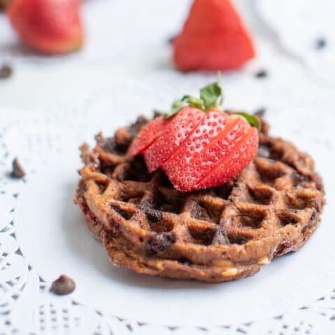 strawberry chaffle