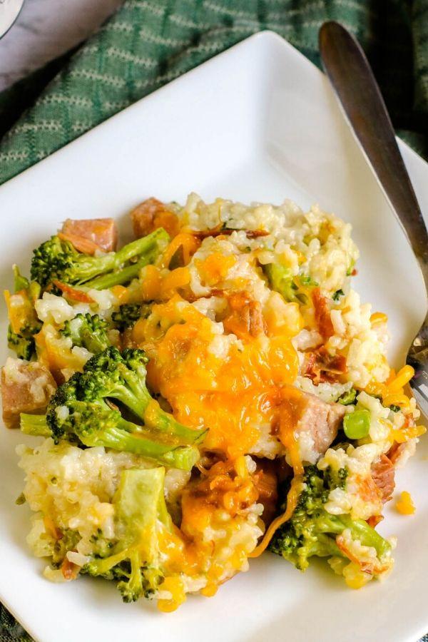 Instant Pot Duo Crisp Broccoli and Rice Casserole