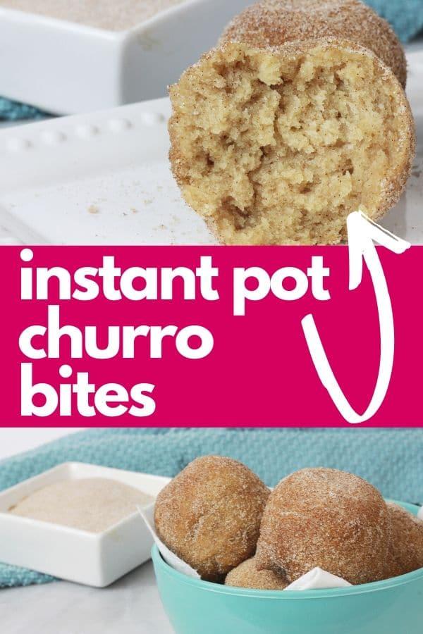 instant pot churro bites