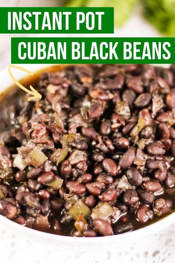 instant pot cuban black beans