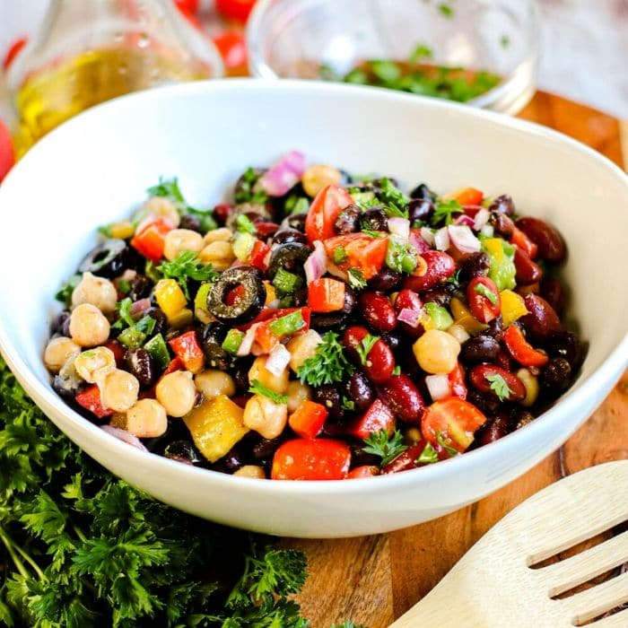 bean salad with dressing