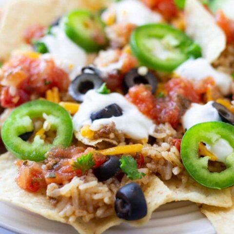 easy beef nachos