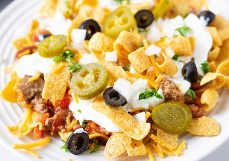 ground beef chili frito pie