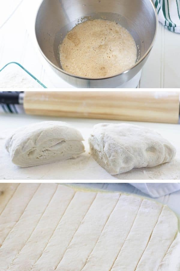 images of steps on how to make breadsticks