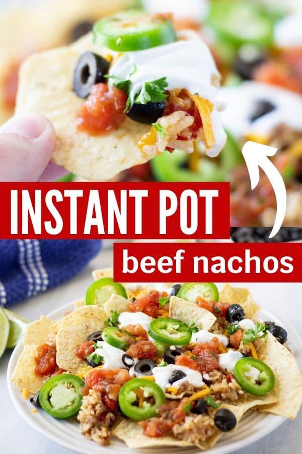 instant pot beef nachos