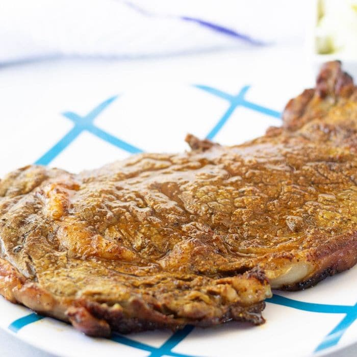 steak on indoor grill