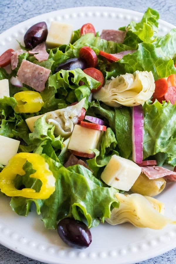 summer salad on a white plate