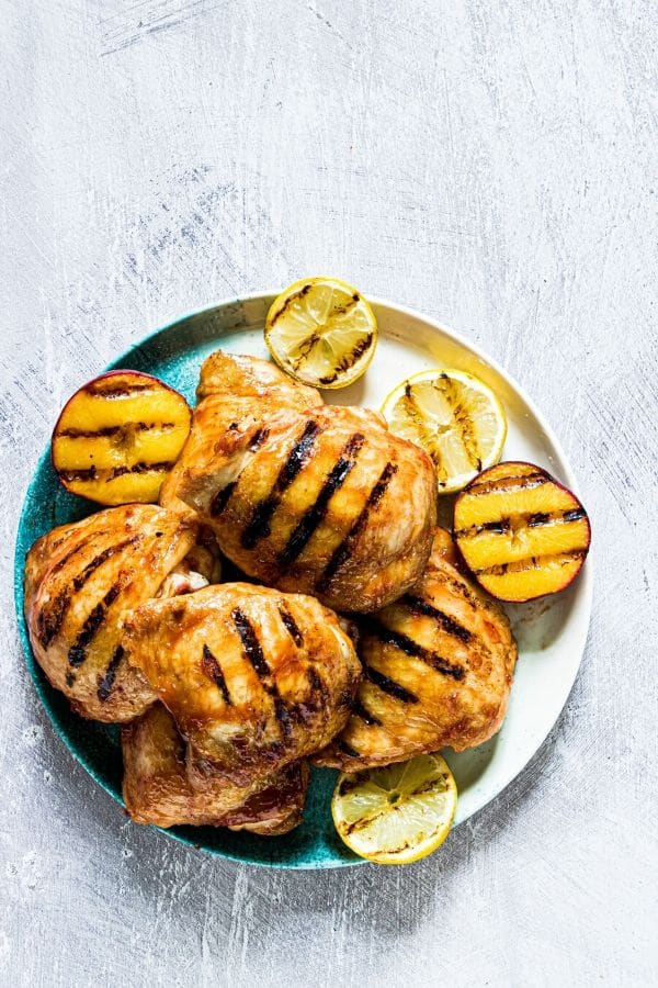 barbecue peach chicken