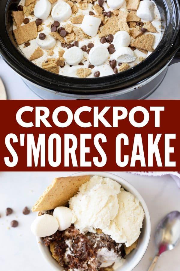 crockpot s mores cake