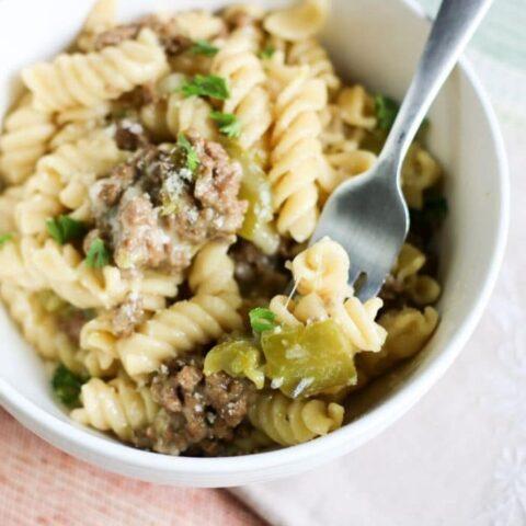 _easy philly cheesesteak pasta recipe