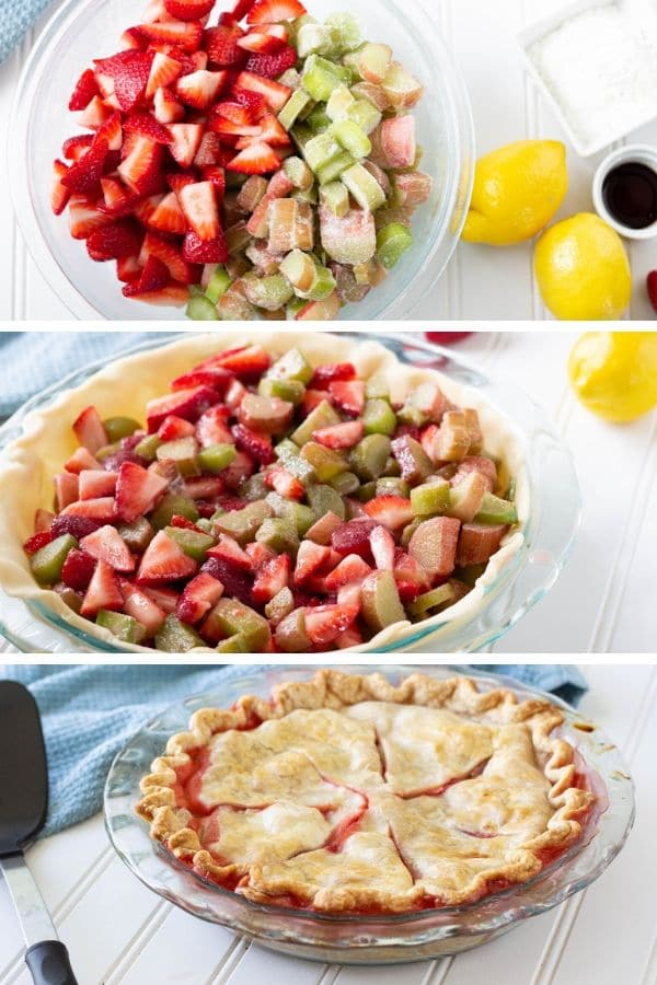 how to make strawberry rhubarb pie