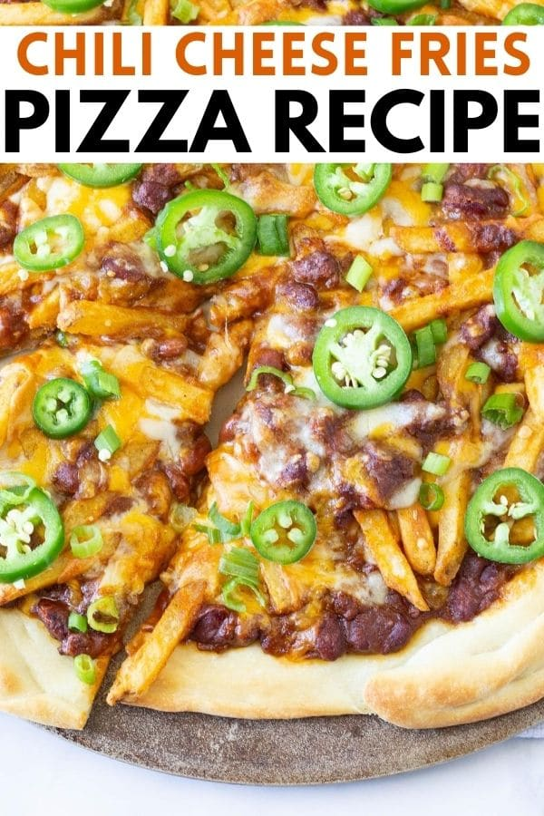 chili cheese fries pizza