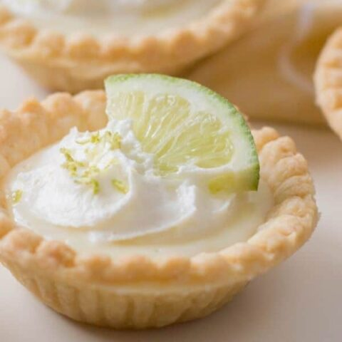 lime pie on a plate